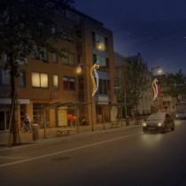 Apeldoorn centrum krijgt nieuwe sfeerverlichting gedurende de kerstperiode.
