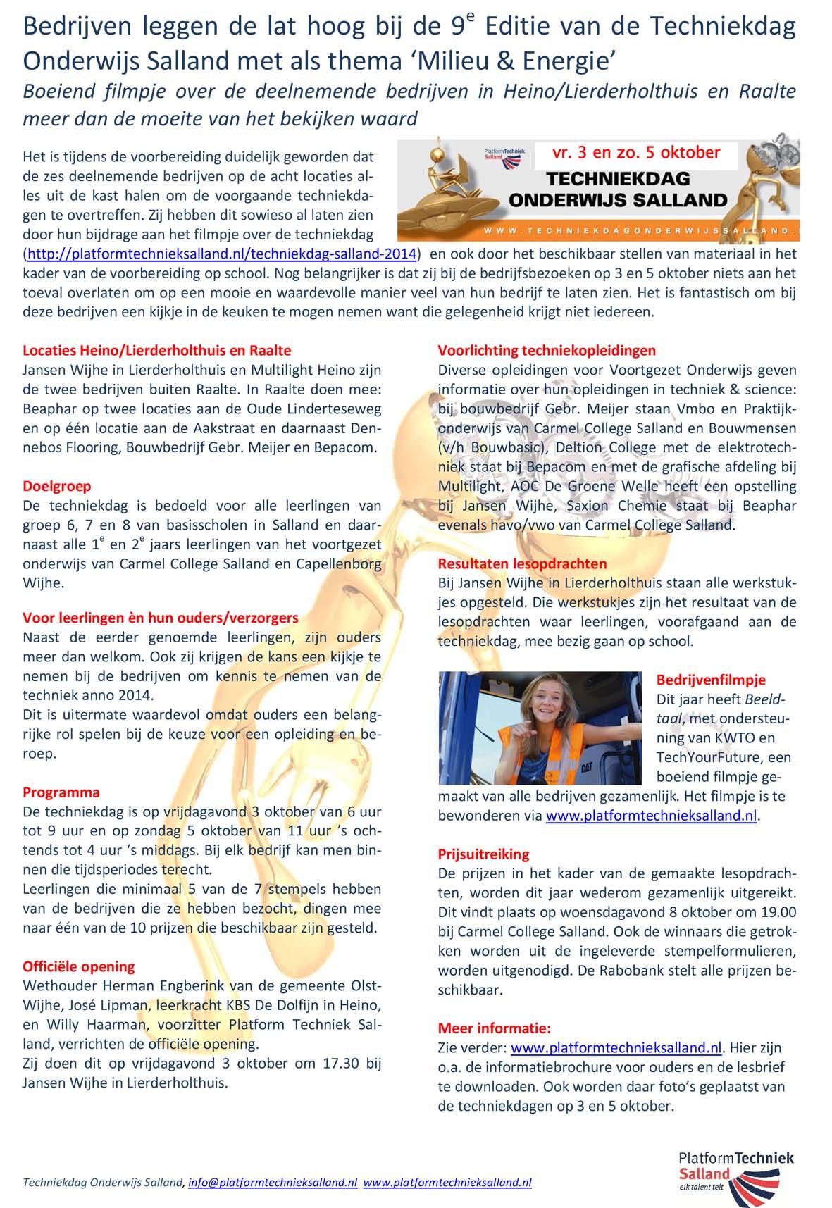 Persbericht - leaflet 2014 TOS-2
